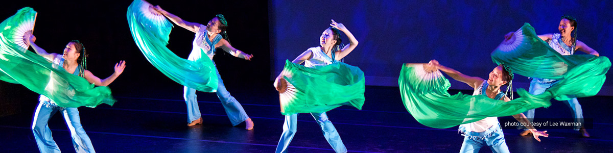 Hua Sha Chinese Dance Company performs at the Celebration of the Arts (photo courtesy of Lee Waxman)