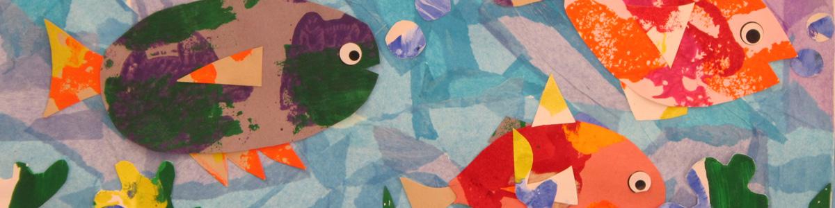 A summer camp art project