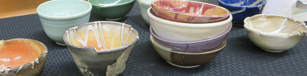 Handcrafted pottery for sale at the Open House & Holiday Sale
