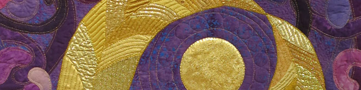 Detail from Gold and Purple Shelter, by HCAC Resident Artist Joyce Ritter