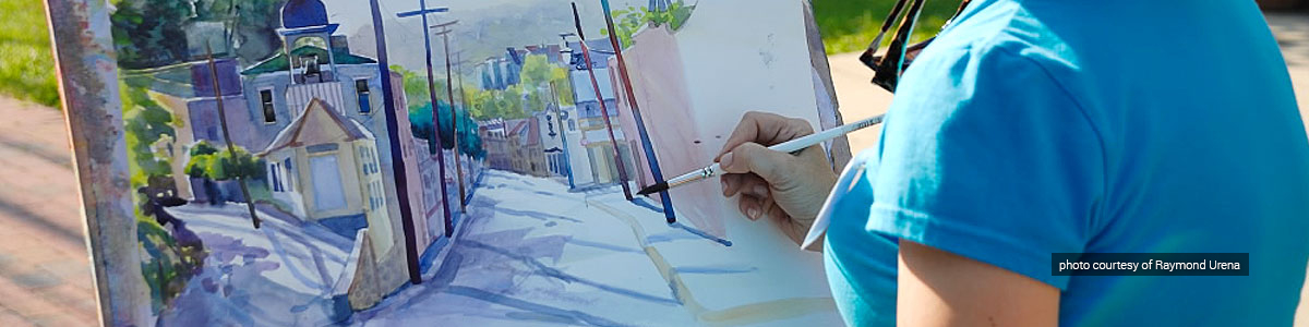 Artist Catherine Hills takes part in Paint It! Ellicott City
