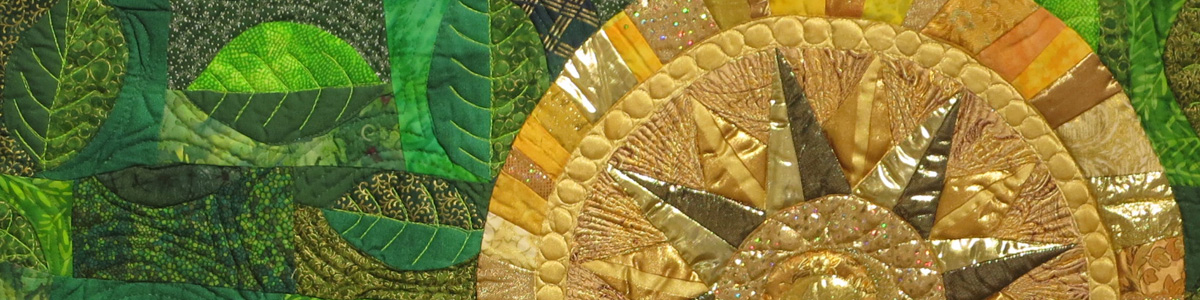 Detail from Gold and Green Bloom, by HCAC resident artist Joyce Ritter
