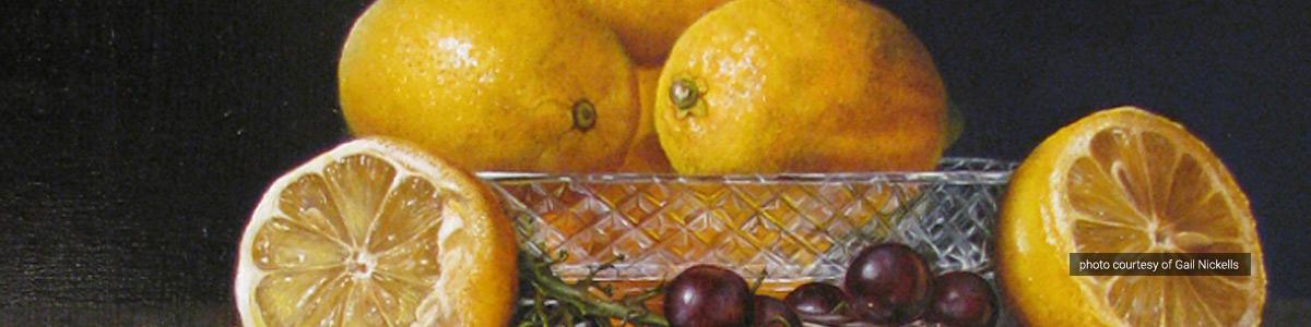 Lemons, by Gail Nickells, Art Maryland 2014 Juror's Choice Award winner