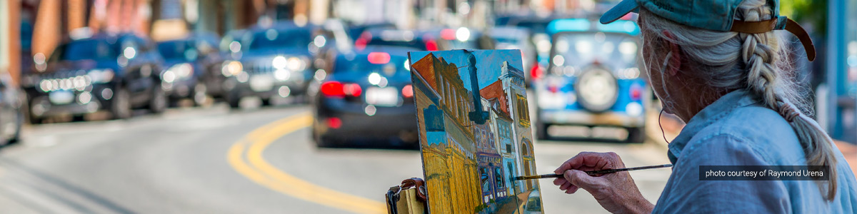 Artist Debra Howard takes part in Paint It! Ellicott City 2016 - photo by Raymond Urena