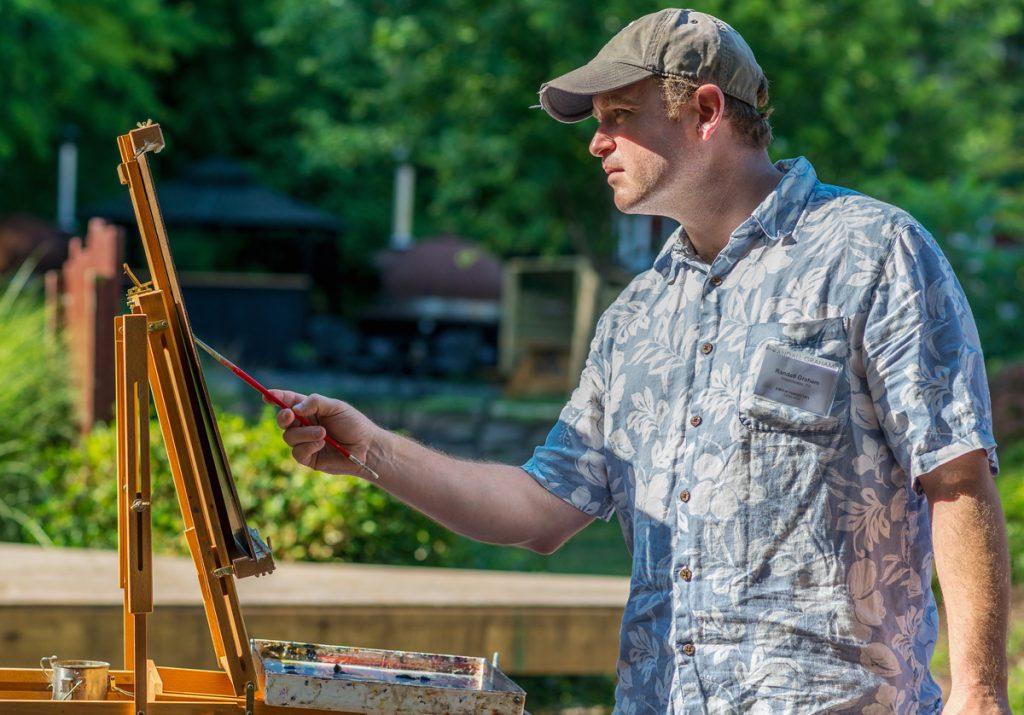 Randall Graham takes part in Paint It! Ellicott City 2016 (photo by Raymond Urena)